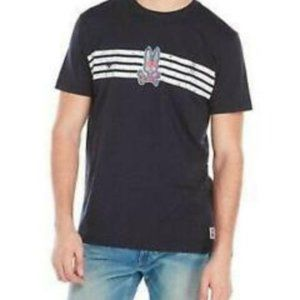 Psycho Bunny Aspen Stripe-Graphic Tee Shirt Navy